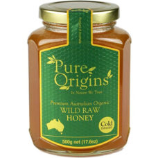 Pure Origins Organic Wild Raw Honey 500g