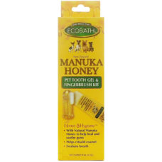 gold medal ecobath manuka honey pet tooth gel and fingerbrush kit 1