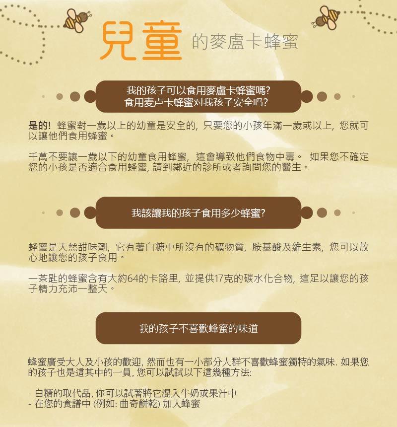 Honey for kids 兒童蜂蜜 適合食用嗎?